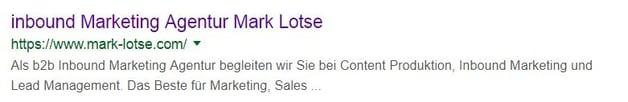 Mark Lotse Meta Beschreibungen