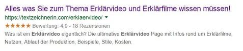 Erklärvideo Google Suche Keywords Meta Beschreibung